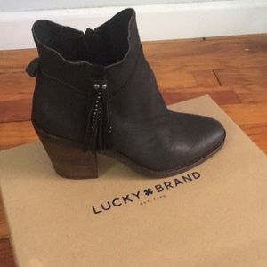 Lucky Brand booties. Brand new. Never worn.